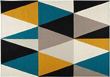 Tapis en laine motifs graphiques 160x230cm