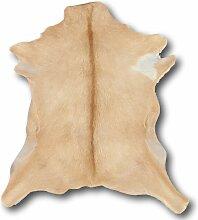 Tapis en peau de chèvre clair 55x70