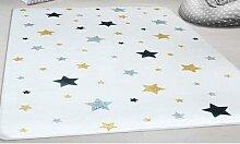 Tapis enfant étoiles: Gris / 80x150 cm