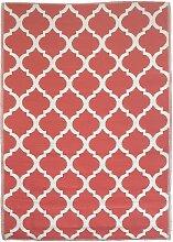 Tapis extérieur en polypropylène rouge 120x180