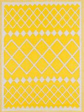 Tapis extérieur motif géométrique jaune 180x280