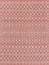 Tapis extérieur polypropylène rouge 67x180