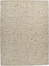 Tapis feutré en laine naturelle fait main gris