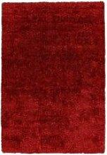 Tapis grâce shaggy rouge UNGQF-60-110-E