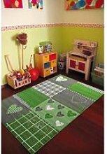 Tapis grand dimensions  bambino coeur vert 80 x