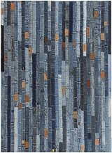 Tapis jeans Patchwork 160 x 230 cm Denim Bleu