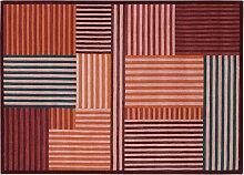Tapis Mackintosh tufté main laine brique