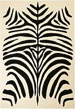 tapis moderne design de zèbre 140 x 200 cm beige