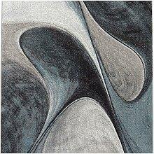 Tapis moderne en polypropylène bleu 100x100 carré