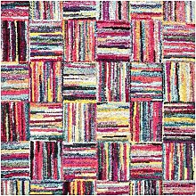 Tapis moderne en polypropylène multicolore