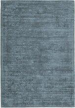 Tapis moderne en Soie Bleu 120x170 cm