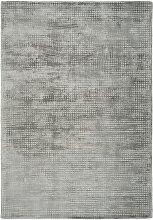 Tapis moderne fait main en Viscose Argent 200x290