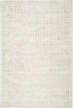 Tapis moderne fait main en Viscose Beige 120x170 cm