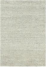 Tapis naturel en laine - Scandinave gris clair -