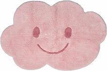 Tapis Nimbus en coton forme nuage sourire coloris