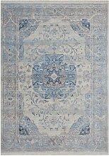 Tapis orient style en polyester bleu 120x170
