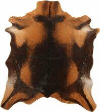 Tapis peau de chêvre marron 70x55