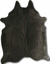 Tapis peau de vache gris 220x180