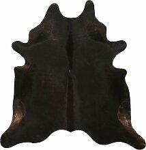 Tapis peau de vache noir 220x180