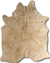 Tapis peau de vache or 220x180