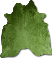 Tapis peau de vache vert 220x180
