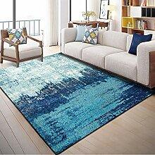 Tapis Poil Court Tapis Gradient Bleu Design