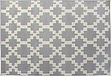 Tapis Polyester Ligne Textile Gris Clair 120 x 180