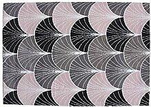 Tapis Polyester Ligne Textile Rose 120 x 180 x 1