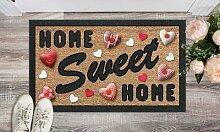 Tapis rectangle imprimé 40 x 68 cm : Home sweet