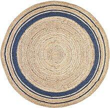 Tapis rond BHOPAL - 100% Jute - D. 150 cm -