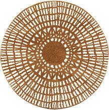 Tapis rond graphique jaune D160 cm OLAPA