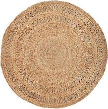 Tapis rond naturel SUNSHINE - 100% jute - D.155 cm