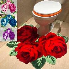 Tapis rose doux et beau pour salle de bain, pour