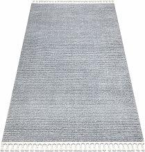Tapis SEVILLA PC00B rayures gris Franges berbère