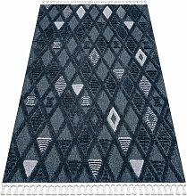 Tapis SEVILLA Y499B treillis, diamants bleu