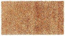 Tapis shaggy beige poil long 160x230 cm - Beige