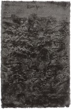 Tapis shaggy doux en Polyester Gris anthracite