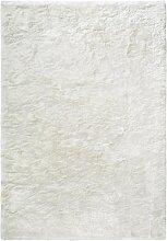 Tapis shaggy doux en Polyester Ivoire 200x300 cm