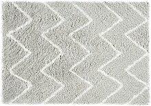 Tapis shaggy DRESDE - Gris et blanc  - 200 x 290 cm