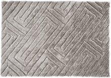 Tapis shaggy effet 3D MAZE - Gris  - 160*230 cm