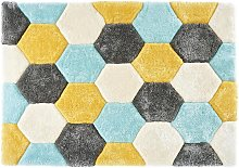 Tapis shaggy effet 3D TOMETTE - polyester - 120 x