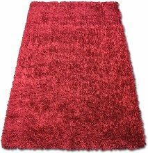 TAPIS SHAGGY LILOU rouge nuances de rouge 200x290