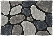 Tapis shaggy PIETRA gris - 120*170 cm