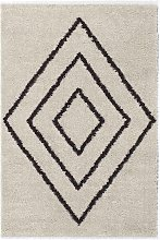 Tapis shaggy polypropylène beige 120x160