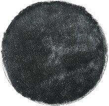 Tapis shaggy rond GLITTER argent - D.120 cm