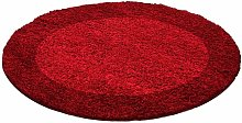 Tapis shaggy rond VITA 1 200x200 Rouge - Rouge