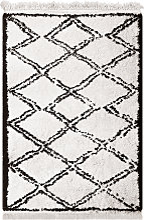 Tapis shaggy tanger beige 160x230