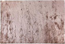 Tapis shaggy ultra doux DOLCE taupe reflet beige -