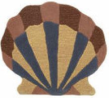 Tapis Shell / Décoration murale - 79 x 70 cm -