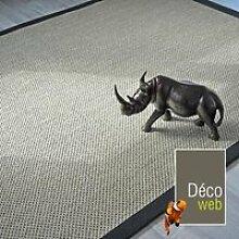 Tapis sisal - Kidara Nuage ganse noire - 140 x 200
